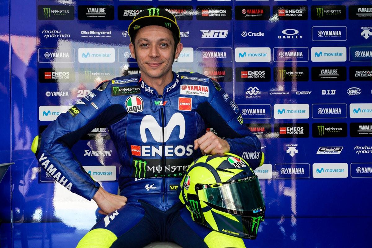 El nuevo casco de Valentino Rossi, diseño retro más moderno que nunca