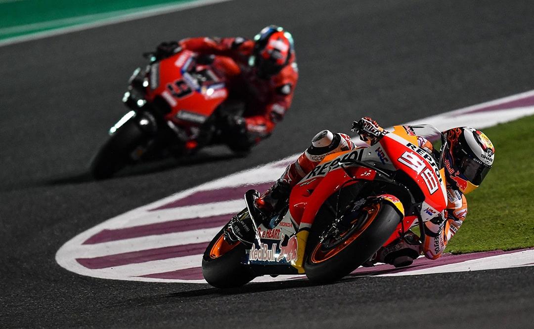 Horarios de MotoGP Qatar 2019: luces, cámara y… ¡acción!